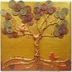 "Textil Gemälde: ""Baum des Reichtums"""