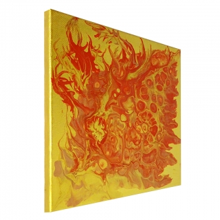 "Gemälde: ""Feuer - Nr.3"""